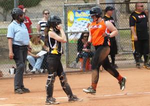 Maranda Longsdon runs across home plate Saturday afternoon during the Havasu Girls Softball opener at Rotary Park. Jillian Danielson/RiverScene
