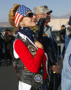 Karen and Dave during a Welcome Home Mission. Jillian Danielson/RiverScene