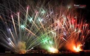 Fireworks burst into the sky during the 2015 Winterblast ground show at Havasu 95 Speedway. Jillian Danielson/RiverScene