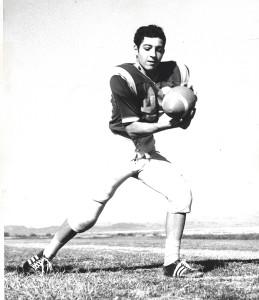 David's high school football photo.