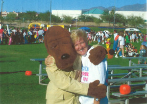 Donna and McGruff. Submitted photo by Donna Best Carlton