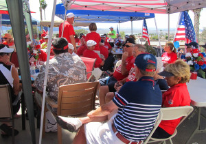 The golfers were treated to a lunch after the tournament Sunday afternoon. Jillian Danielson/RiverScene