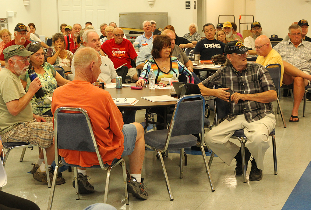 Veterans attend the seminar Thursday afternoon to hear speakers about Agent Orange. Jillian Danielson/RiverScene