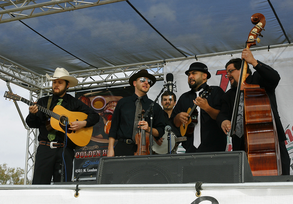 A band plays at the 2014 Bluegrass Festival held at Windsor 4.
