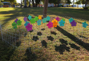 An angel garden sits on display in honor of participants that have lost little ones. Jillian Danielson/RiverScene