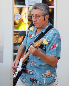Tim Cullen performs at the Car Door Show Saturday evening. Jillian Danielson/RiverScene