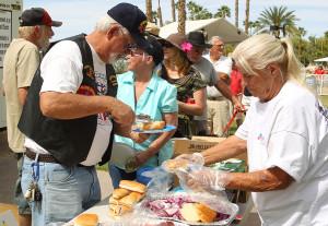 A BBQ was served at the Vietnam Veteran's Day which was held at London Bridge Beach. Jillian Danielson/RiverScene