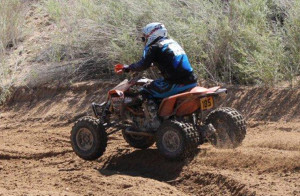 Michael Ellsworth rides on his quad during WORCS Saturday afternoon. Ken Gallagher/RiverScene