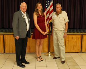 Loyal Knight  Jim Barton and Bill Ullery pose with Elks National Legacy Award winner Jennifer Wrona. Jillian Danielson/RiverScene