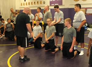 MLEEA Explorer recruits learn defensive techniques Monday afternoon at the Lake Havasu High School. Jillian Danielson/RiverScene