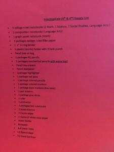 Telesis Supply List