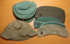 Naylor's military hats from WW2. Jillian Danielson/RiverScene