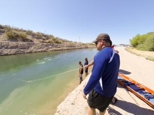 Instructor Guy Nelson overlooks rescue dive team training in Parker, Arizona. File photo (2012) - Nathan Adler/RiverScene Magazine