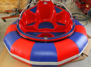 One of the bumper boats after it was assembled in the Whett Rods shop. Jillian Danielson/RiverScene
