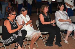 Gold Star Mothers Janet Meehan, Mona Hester, Karen Tillery, and Lori Deysie. Photo Ron Silva