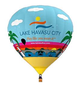 Proposed artwork of a future Lake Havasu City balloon by Jim Dolan and Dean Baker.