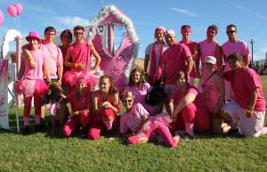 Team Bloodhounds pose for a photo on Denise's Day Strides for Hope. Jillian Danielson/RiverScene