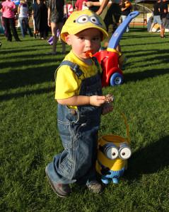 Nathaniel Laudel dresses like a Minion at the Fall Fun Fair Saturday afternoon. Jillian Danielson/RiverScene