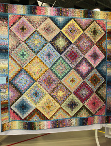 A quilt made by Beth Hoskins hangs at the Quilt Show Friday afternoon. Jillian Danielson/RiverScene