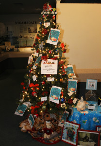 A tree donated by the Humane Society sits at the Museum of History. Jillian Danielson/RiverScene