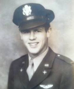 Justin's grandfather, Charlie Osborne was a WW2 bomber pilot . photo courtesy Justin Osborne Hurdel