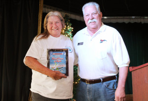The Commodore's Award went to Veteran's United AZ/ Slide Anchor and was presented to Frankie Lyons. Jillian Danielson/RiverScene