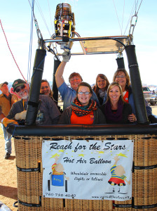 Starline teachers pose with Kim Lynch and her crew Saturday morning. Jillian Danielson/RiverScene
