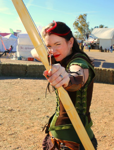 Robyn of Foxley poses for a photo Friday afternoon at the 2015 Ren Faire. Jillian Danielson/RiverScene