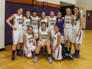 LHHS Varsity girls pose for a team photo Friday afternoon. Rick Powell/RiverScene