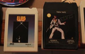 A few Elvis 8 tracks sit on display in her home. Jillian Danielson/RiverScene