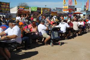A vendor area is set up at Rockabilly Reunion. Jillian Danielson/RiverScene