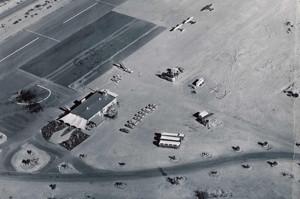 The Lake Havasu airport December 3, 1964. Photo courtesy Lake Havasu Museum of History