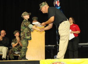 Levi Dunn graduates the Young Marines Saturday afternoon. Jillian Danielson/RiverScene