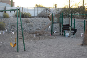 This was the playground before it was fixed. submitted photo Telesis