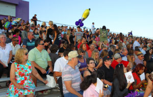 Parents and families of graduates sit in the stands at Lake Havasu High School Thursday evening. Jillian Danielson/RiverScene
