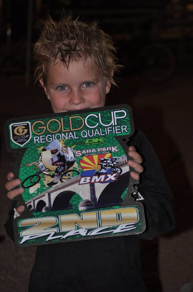 Cayden Brinson-Gill won 2nd place in the 7 year old Novice category. Photo courtesy Alicia Gill.