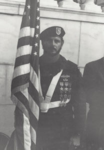 Joe Little participates in laying of wreath at the Tomb of the Unknown Soldier, Arlington 1988.