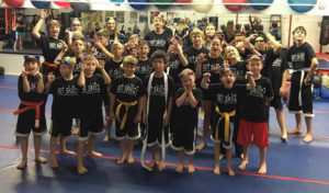 The Arevalo Academy wears their cat ears in support of Raeanna. photo courtesy Rudy Arevalo