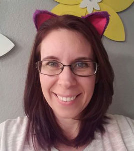 Amber Vanderjagt wears cat ears in support of #standuptobulliesrightmeow. photo courtesy Amber Vanderjagt