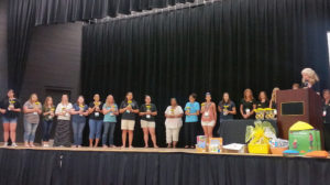 Early childcare professionals who earned their Child Development Associates credential were recognized at the start of the Early Childhood Conference hosted by the Association for Supportive Child Care Saturday, June 11 at the Aquatic Center in Lake Havasu City. photo courtesy Erin Taylor