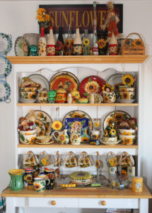 A sunflower collection sits on display at the home of Angela and David. Jillia Danielson/RiverScene