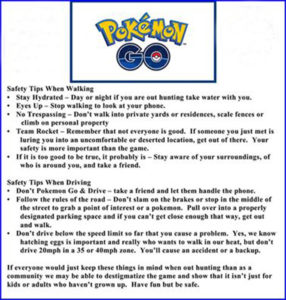 Safety tips coutesy Drake and Julia Finney