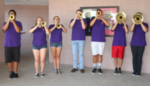 The Band of Knights welcomes teachers. Jillian Danielson/RiverScene