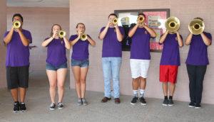 The Band of Knights welcomes teachers. Jillian Danielson/RiverScene