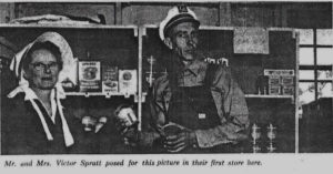 Corinne and Victor Spratt in their first store in Lake Havasu. Photo courtesy Museum of History