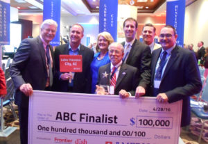 Representatives from Lake Havasu pose for a photo with the ABC Finalist Check. Photo Courtesy Nello Ruscitti