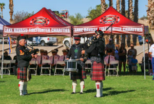 Bagpipes are performed at the 9/11 ceremony. Rick Powell/RiverScene