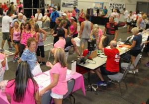 Vendors participate in the Community Health Fair Saturday morning. Jillian Danielson/RiverScene