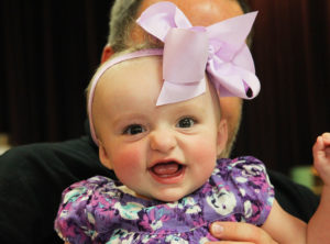 Tatum McCulloch is all smiles and is the great-great-granddaughter of Robert McCulloch Sr. She is the currently the youngest in the McCulloch family. Jillian Danielson/RiverScene