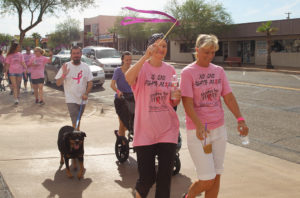"Participants walk in Denise's Day ""Strides For Hope"" Saturday morning. Jillian Danielson/RiverScene"